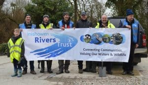 Volunteers who planted hedging on the Bredagh River, Moville in Feb 2017.